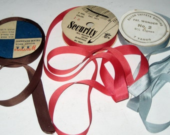 3 Partial Spools of Seam Binding for Crafting, Sewing, etc.
