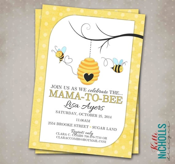 Bumble Bee Baby Shower Invitation Custom Printable Mommy To Invite What Will It