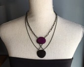 Purple and black necklace