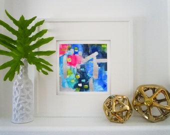 Watercolor Blue Abstract Painting-Original Abstract-Abstract Wall Art-Fine Art-Wall Decor-Chinoiserie Art-Modern Art