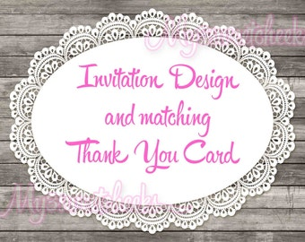 Invitation Design and Matching Thank You Card Order