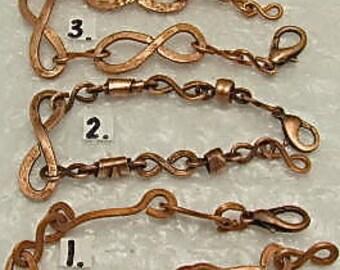 Copper Bracelet, Copper Wire Bracelet,  Copper Wire Wrap Bracelet. 3 Available.