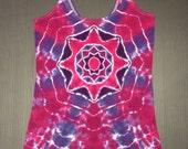 Ladies Tie Dye Shirt, Ladies Tiedye Shirt, Ladies Tie Dye Tank Top, Tie Dye Tanktop, Purple Tank Top, Size Large, Ladies Cut, Feminine Fit
