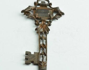 Rustic Skelton Keys 93mm Rustic Key Pendants Charms, 05427RU, 2 each