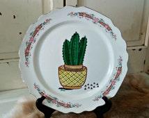 Hand Drawn Cactus Plate | Sharpie Art