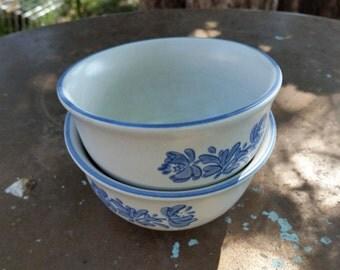 2 pfaltzgraff yorktowne desert bowls