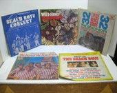 Lot of 5 Beach Boys LPs Record Albums Taiwan Colored Vinyl Wild Honey Deuce Coupe Concert Best Of Chinese Import