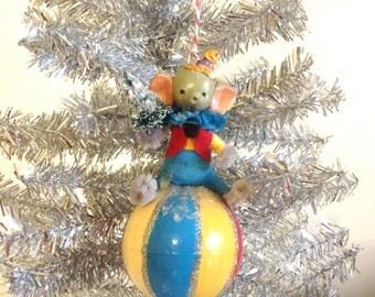 Circus Elephant Christmas Ornament/Carnival/Circus Christmas
