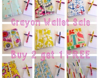 Crayon Wallets . Birthday Party Favors . 8 Crayons & Notepad Included . Birthday Gift for Children . Wedding Favors . Buy 2 Get 1 FREE