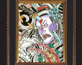 4x6 Geisha Sword Print by Tyler Weisenberger