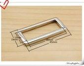 1.5 inch (inner diameter) Nickel rectangle alloy buckles 10pcs  3mm thickness U35