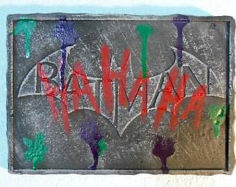 Batman relief wall plaque: Jokers vandalism