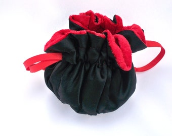 Small Satin Custom Pouch,  Made To Order, Your Color Choice, Flower Girl Bag, Bridesmaid Bag, Custom Colors