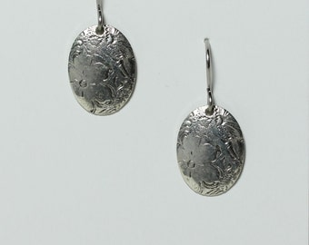 Stamped earring