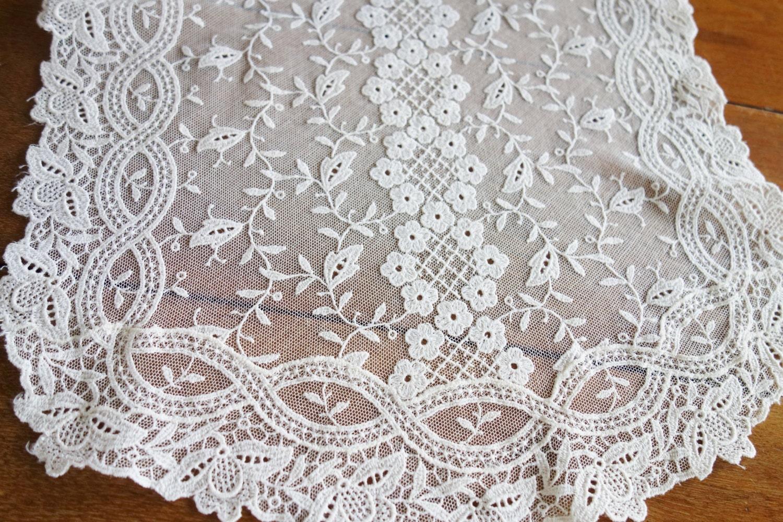 1930s net lace dresser scarf net lace 1930s lace runner