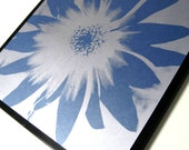 BLUE PETAL ..Magnetic Dry Erase Memo Board / Housewarming Gift / Office Decor / Organization / Desk / Memo Board / Message Bulletin Board