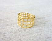 Satellite Ring, geometric ring, signature ring, space ring, statement ring