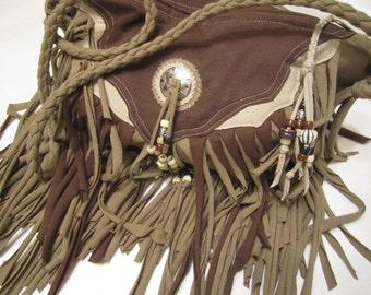 Tribeca Brown Fringe Cross Body Bag
