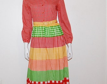 Vintage Dress Prairie Maxi with Belt.....SALE