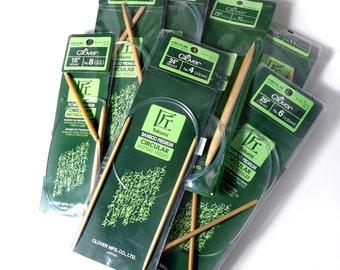 "Clover Takumi Bamboo Knitting Needles Circulars - US 11 (8.0mm) 36"""