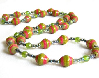 Paper Bead Jewelry - Necklace - #1266