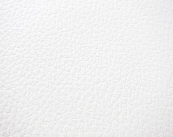 Elegant Faux Leather Fabric In Cow Leather Pattern   White Vegan Leather   Milk White  Fabric   Faux Leather Fabric By The Yard   Half Yard