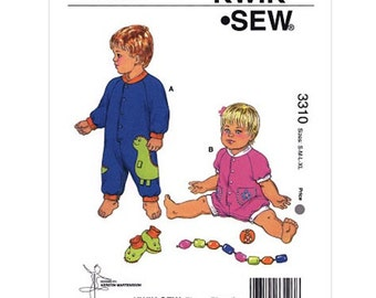 BABY CLOTHES PATTERN / Make Jumpsuits - Bodysuits - Rompers / Boy - Girl / Small to Extra Large