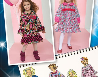 GIRLS DRESS PATTERN / Make School - Church Clothes / Sizes 4 to 8 / Project Runway