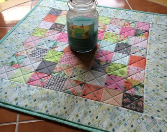Moda Fresh Cut quilted table topper - by Basic Grey - 22.5 inch square