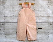 SUPER SALE - Overall in Peach and Strawberry (double sided) - featured in Pregnancy & Newborn Magazine