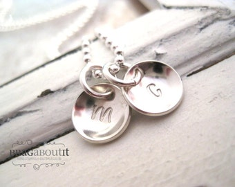 Personalized Hand Stamped Jewelry . Personalized Jewelry. Brag About It . Teeny Tiny Initial Brags (Cupped or Flat)