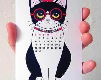 SALE - 2016 Miniature Tuxedo Cats Calendar, Desk Calendar, Wall Calendar