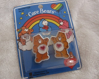 Vintage barrettes,Care Bears Tenderheart barrette