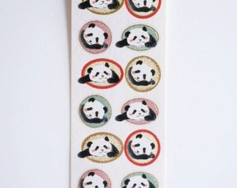 Kawaii Japanese Stickers - Washi Paper Pandas -