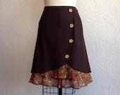 Sasha wool ruffle front skirt Sz 0