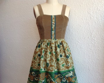 Louisa cotton and corduroy dress Sz 2