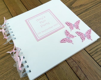"""Hen Party Memory Book, Bridal Shower Photo Album, 8""""x8"""" Scrapbook, Personalised Gift"""