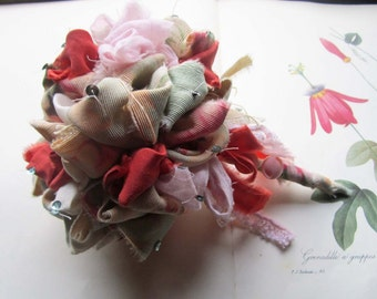 Fabric Wedding Flowers * Fabric Bouquets * Vintage Fabric  * weddings * celebrations and events
