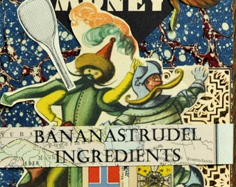 1884 to 1955 BANANASTRUDEL INGREDIENTS - 35-pc. Miscellaneous Pack. Probably the Best Collage/Ephemera Pack