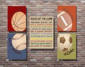 Sports Sign, Sports Birthday, Sports Decor,Vintage Style Sports Art,INSTANT DOWNLOAD,Boys Room Decor, Basketball, Soccer, Baseball, Football