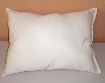 """12x16"""" Pillow Form, Pillow Insert, Filled Cushion, Fiberfill Pillow Insert, Hypoallergenic Polyfil Form, LUMBAR Pillow Form, Bed Pillows"""