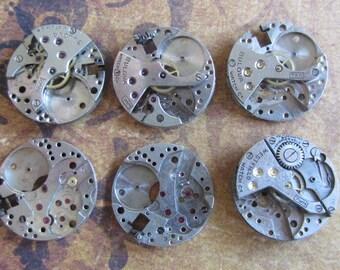 Steampunk watch parts - Vintage Antique Watch movements Steampunk - Scrapbooking f89