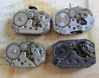 Featured - Steampunk supplies - Watch movements - Vintage Antique Watch movements Steampunk - Scrapboong d82