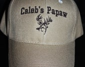 Custom Hat for Papaw- Personalized- Sports; Cars; Anchor; Hunting; Baseball; Soccer