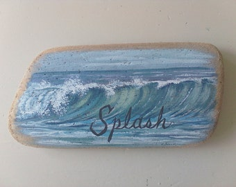 Driftwood Art, Driftwood Painting, Driftwood, Waves, Splash Sign