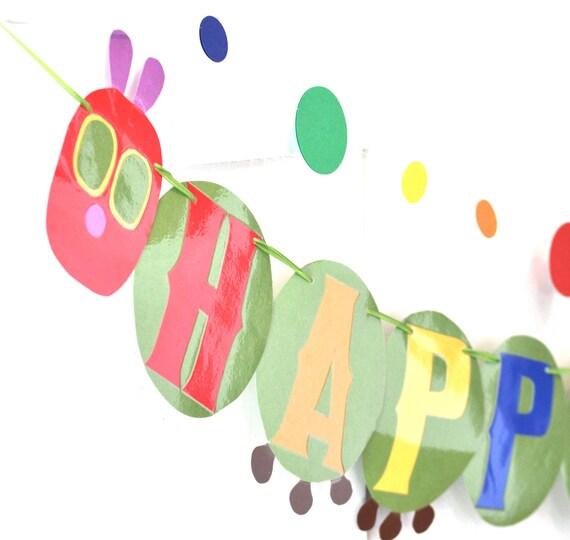 Caterpillar HAPPY BIRTHDAY Banner