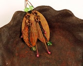 Copper Jewelry, Artisan Made Copper Earrings