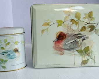 Set of 2 Matching Bird Canisters