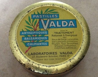 Valda French Advertising tin box from the 60'