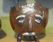 Raku Face Bowl